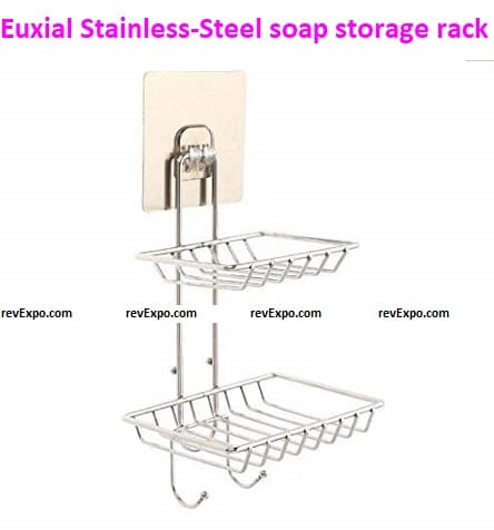 Euxial Stainless-Steel soap storage rack