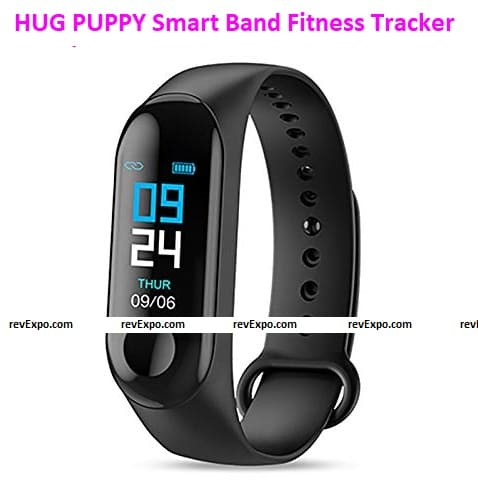 HUG PUPPY Smart Band Fitness Tracker Watch with Water Resistant Body