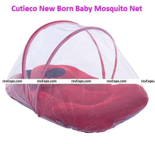 Cutieco New Born Baby Bedding Set with Protective Mosquito Net