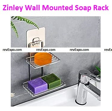 Zinley Wall Mounted Double Layer Soap Rack