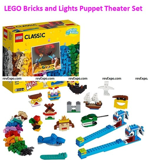 LEGO 11009 (Classic) Bricks and Lights Shadow Puppet Theater Set