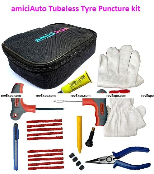 amiciAuto Tubeless Tyre Puncture kit