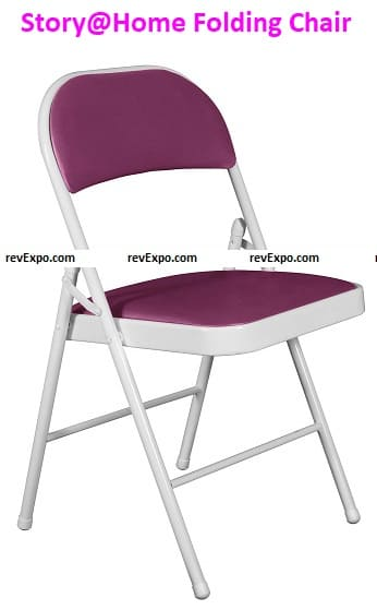 Story@Home Seat and Back Cushion Multipurpose Metal Folding Chair