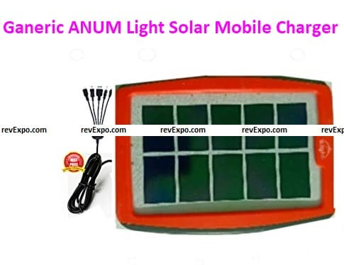 Ganeric ANUM Light (5 in 1) Solar Mobile Charger