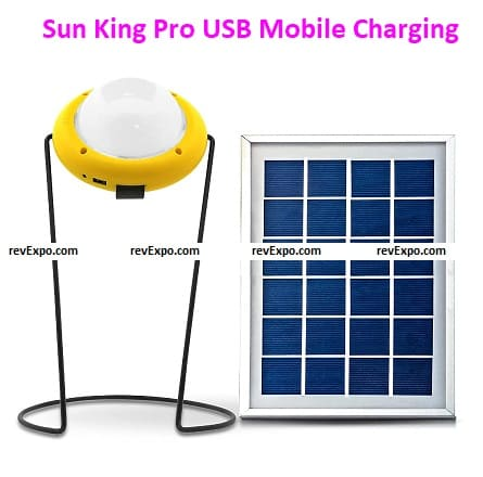 Sun King Pro 400 Emergency Solar Light with USB Mobile Charging