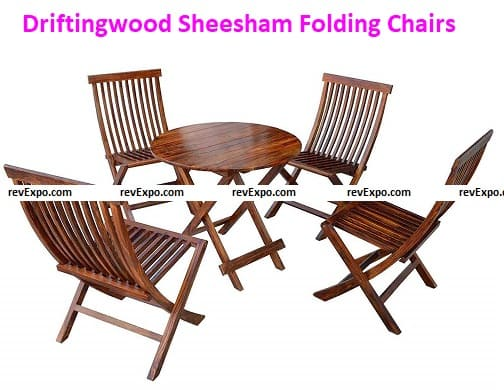 Driftingwood Sheesham Folding Chairs for Garden and Outdoor