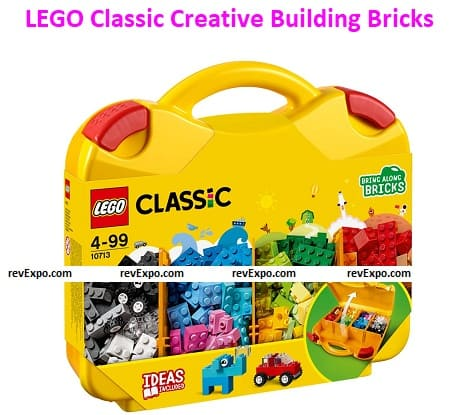 LEGO 10713 Classic Creative Building Bricks for Kids with Suitcase