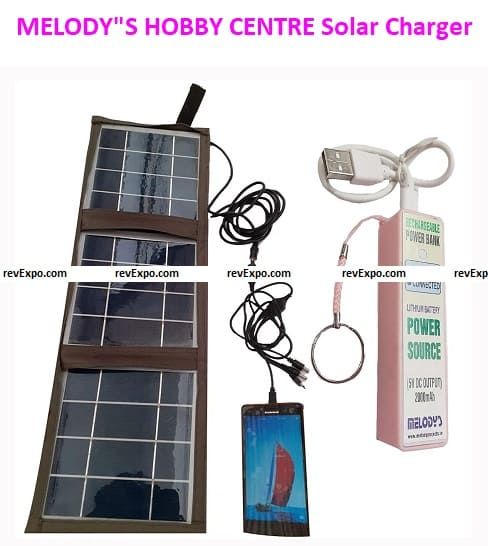 """MELODY""""S HOBBY CENTRE Solar Mobile Charger"""