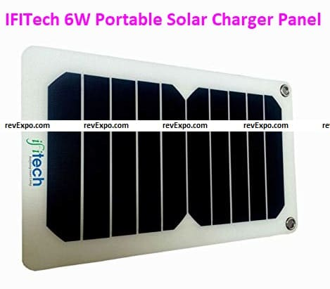 IFITech 6W Portable Solar Charger Panel