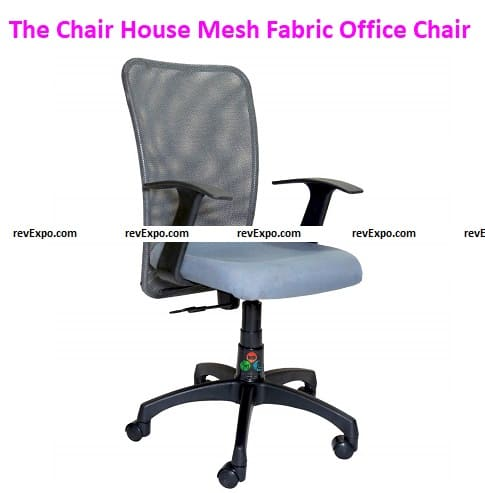 The Chair House T' Handle Mid Back Mesh Fabric Office Chair