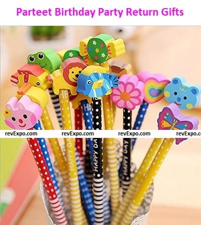 Parteet Birthday Party Return Gifts: Pencils with Eraser for Kids