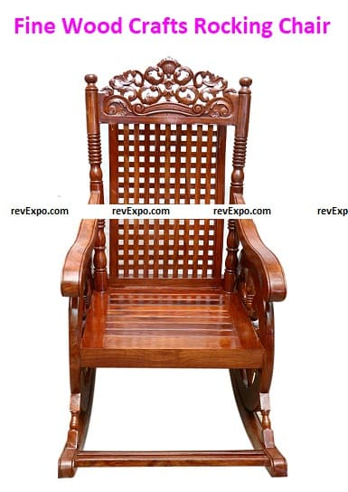 Fine Wood Crafts Rocking Chair/Rolling Chair