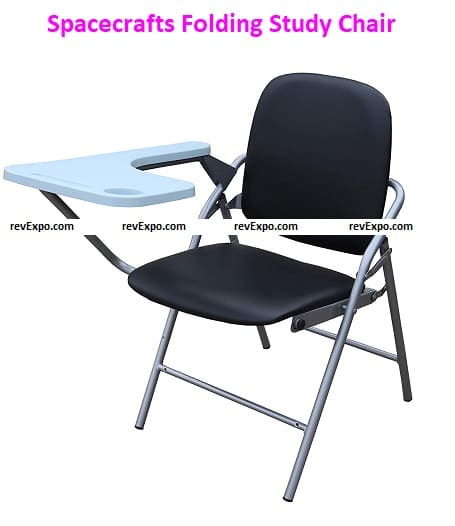 Spacecrafts Folding Study Chair with writing pad