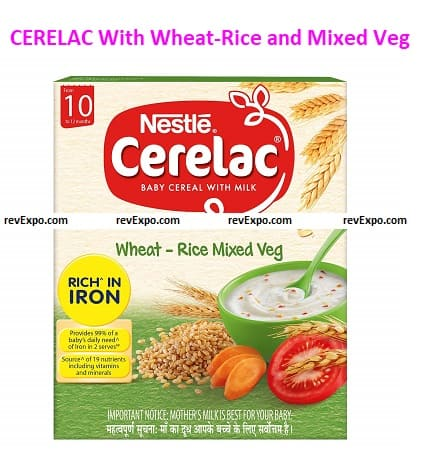 Nestlé CERELAC With Milk, Wheat-Rice and Mixed Veg