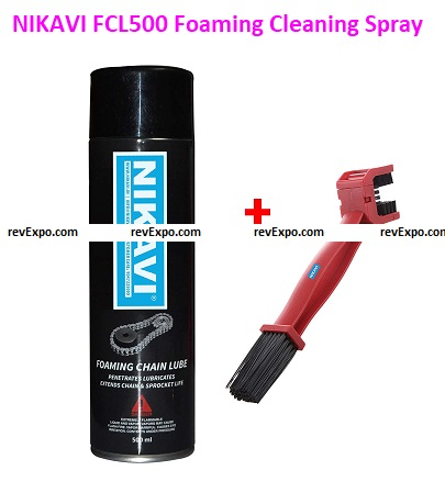 NIKAVI FCL500 Foaming Chain Lube Cleaning Spray