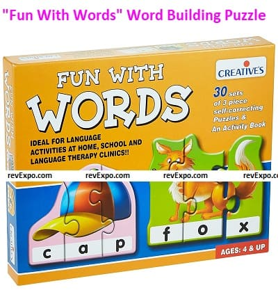 """""""Fun With Words"""" Self-correcting Word Building Puzzle"""