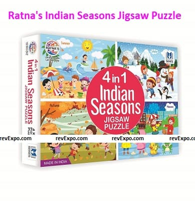 Ratna's 4 in 1 Indian Seasons Jigsaw Puzzle