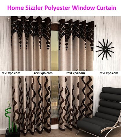 Home Sizzler Polyester Eyelet Window Curtain