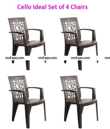 Cello Ideal Set of 4 Chairs
