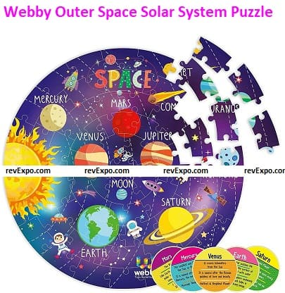 Webby Amazing Outer Space Solar System Jigsaw Puzzle
