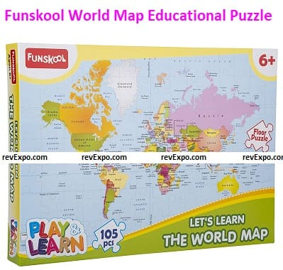 Funskool Play & Learn-World Map Educational Puzzle