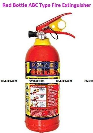 Red Bottle ABC Type Fire Extinguisher