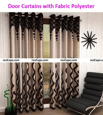 Set of Door Curtains with Fabric Polyester