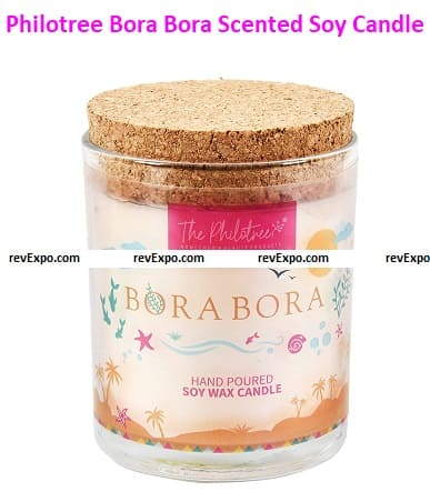 The Philotree Bora Bora Scented Soy Candle