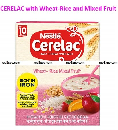 Nestle CERELAC with Milk, Wheat-Rice, and Mixed Fruit
