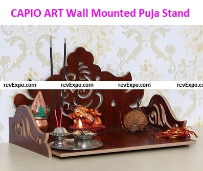 CAPIO ART Wooden Standard Wall Mounted Puja Stand