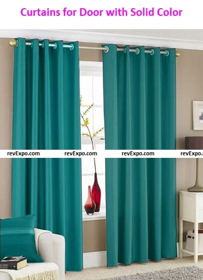 Curtains for Door with Solid Color