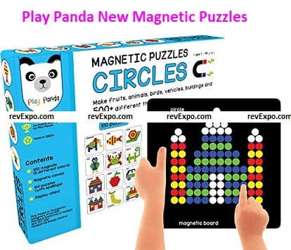 Play Panda New Magnetic Puzzles