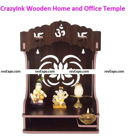 CrazyInk Wooden Home and Office Temple