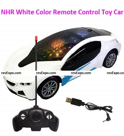 NHR White Color Remote Control Toy Car