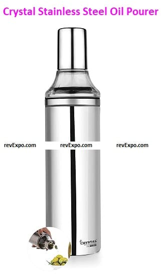 Crystal Stainless Steel Oil Pourer
