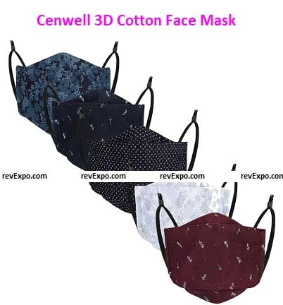 Cenwell 3D Cotton Face Mask