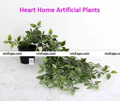 Heart Home Artificial Plants with Plastic Pot