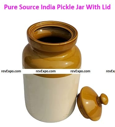 Pure Source India (Ceramic) Pickle Jar With Lid