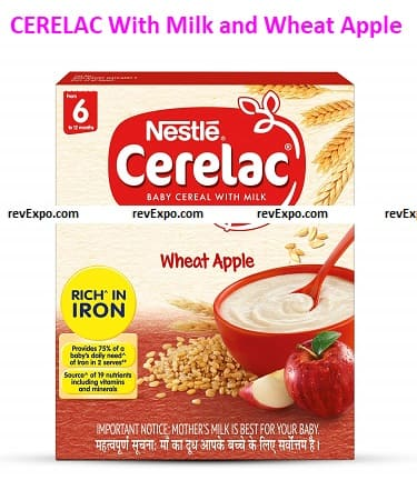 CERELAC Baby Cereal With Milk and Wheat Apple