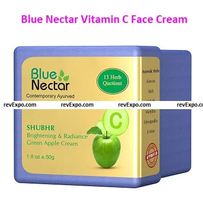 Blue Nectar Vitamin C Face Cream for Men with Green Apple