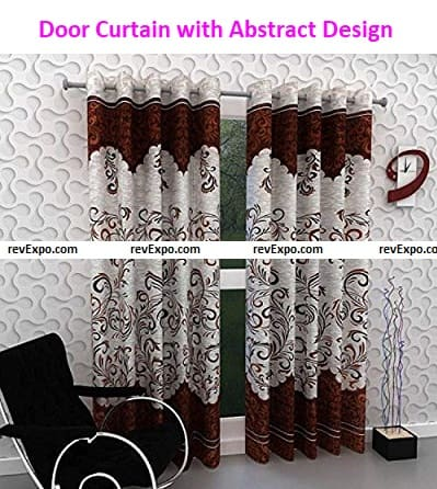 Door Curtain with Abstract Design