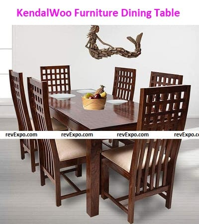 KendalWood™ Furniture Sheesham Wood Dining Table(57x35 inch) with 6 Chairs