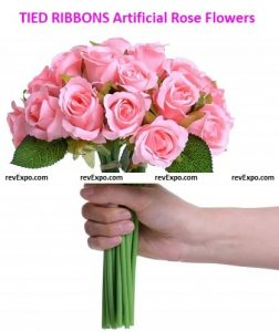 TIED RIBBONS Artificial Rose Flowers