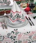 Jolly Holly Christmas Napkins 2 Ply 40cm - 1x125