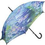 Monet Art Collection Walking Stick Umbrella Water Lily