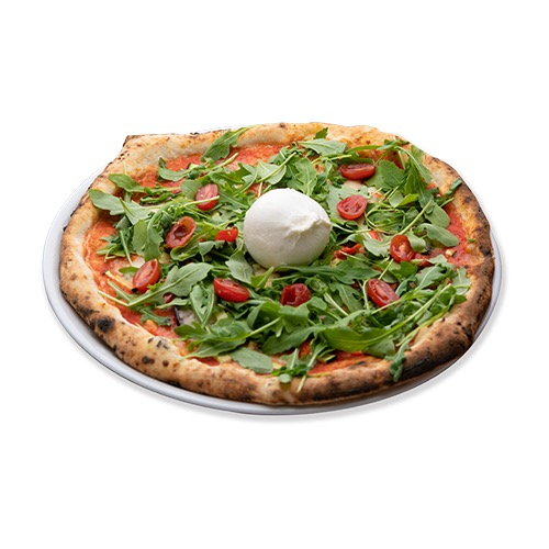 Pizza burrata vegetariana