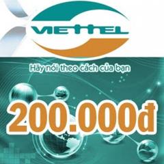 CARD ĐIỆN THOẠI VIETTEL 200