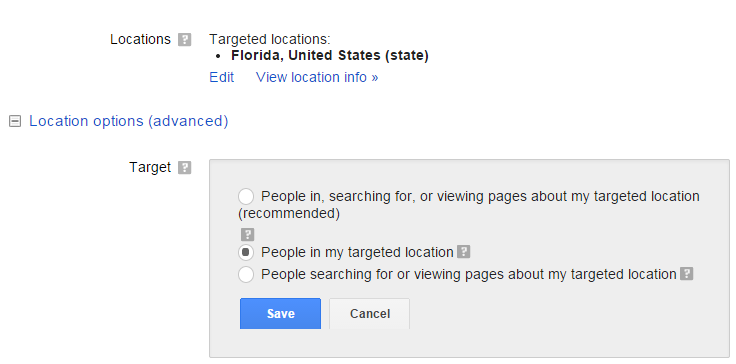 Geo-targeting your PPC settings