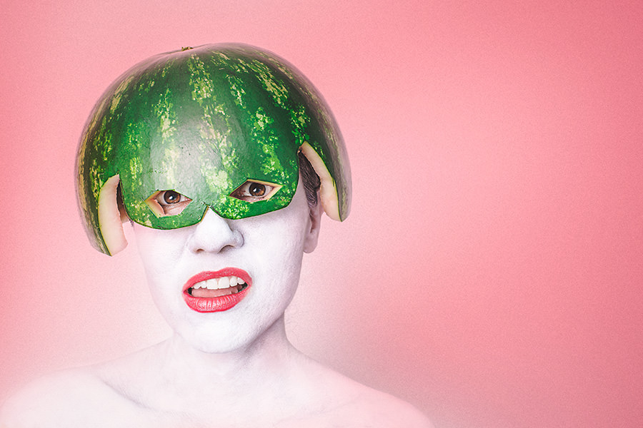 gratisography watermelon head