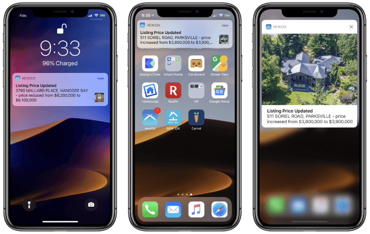 Property images in push notifications